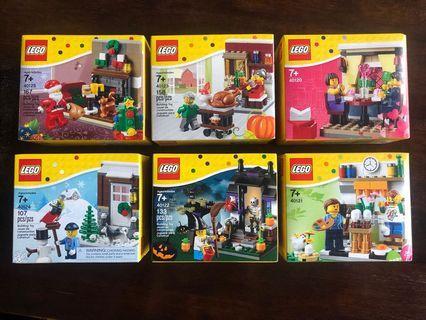 Lego festive sets x 6