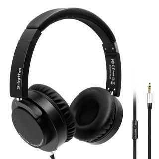 2B 743 Active Noise Cancelling Headphones,Srhythm Wired On-Ear Headset with Microphone, Hi-Fi Stereo Deep Bass Foldable and Lightweight Headphones, Multi-Angle Rotation Up to 180 Degree with Carring Bag