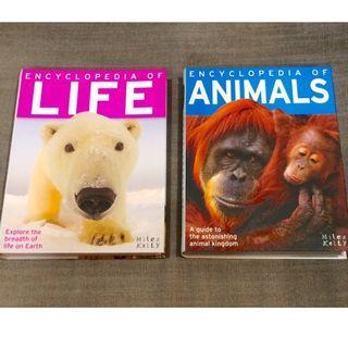 Good Deal! ENCYCLOPEDIA Of Life + Animals for School Children (Set of 2 Books)