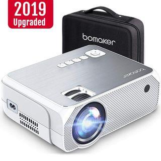 3A 712 BOMAKER HD TV Projector, 3,600 Lux LED HDMI Projector with Carrying Bag, 1080P and 250'' Display Supported, Compatible with TV Stick, PS4, HDMI, VGA, TF, AV and USB