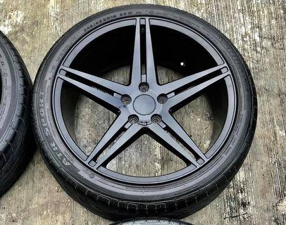 "Used INFORGED 19"" rim with tyre"