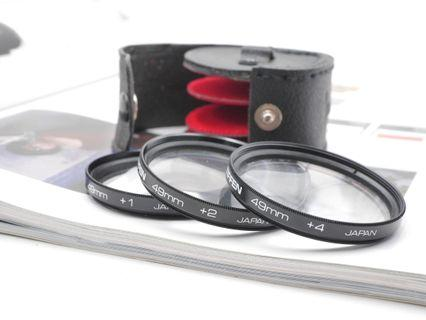 Tiffen 49mm +1+2+4 Closeup filter with case