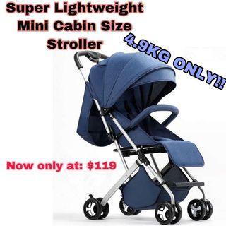 Baby stroller lightweight cabin size