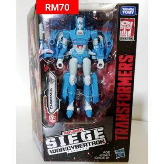 Chromia Deluxe Class Transformers Siege War For Cybertron Trilogy RM70