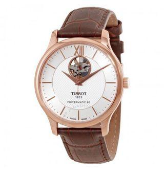 Tissot Tradition Powermatic 80 Brown Leather Watch T063.907.36.038.00