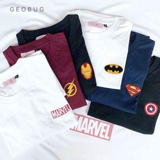 Ready Stock Marvel Series Embroidery Shirt