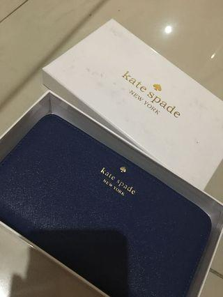 Kate Spade Wallet Authentic Quality Dark Blue