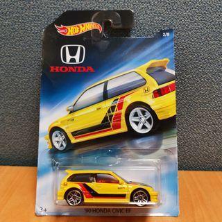 Hot Wheels HONDA SERIES 90 HONDA CIVIC EF yellow