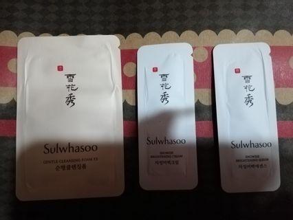Sulwhasoo Samples Set (Snowise Brightening Cream, Snowise Brightening Serum, Gentle Cleaning Foam EX)