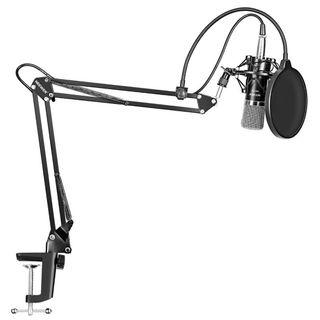 3A 717 (Brand New) Neewer NW-700 Professional Studio Broadcasting Recording Condenser Microphone & NW-35 Adjustable Recording Microphone Suspension Scissor Arm Stand with Shock Mount and Mounting Clamp Kit