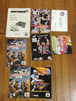 🚚 Nintendo 64 Manuals 📚