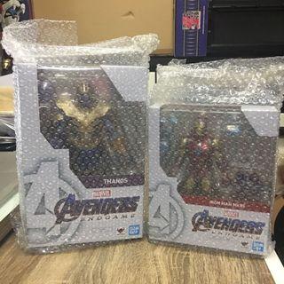 Bandai SHF End Game Thanos + Iron Man Mark 85 日版