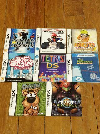 Lot 2: Nintendo DS Manuals 📚