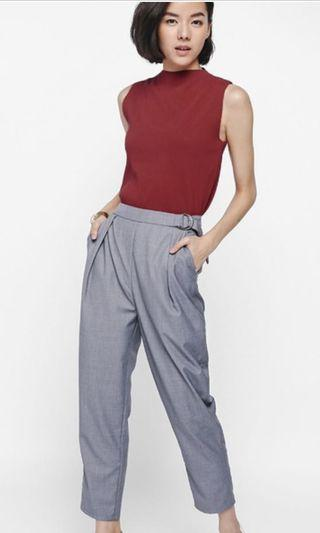 Love Bonito Red Haniela Funnel Neck Knit Top XS
