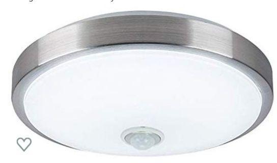 T531 Velouer 12W PIR Motion Sensor LED Ceiling Light,LED Wall Sconce Night 1000LM,Light for Hallway Basement Garage Stair Well,Flush Mount Ceiling Lights,6000K