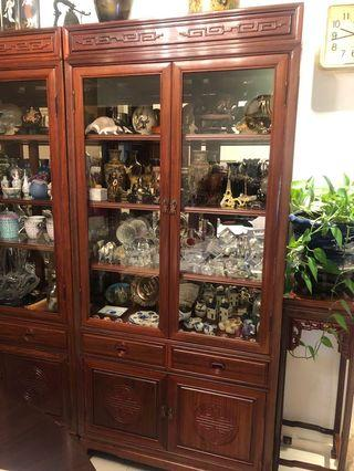 Chinese wooden display cabinet 花梨木古董柜