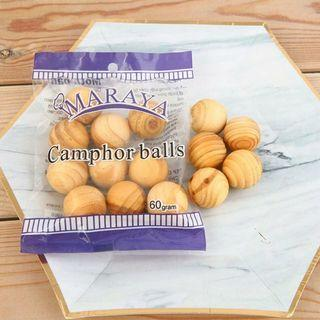 [Ready Stock] 10pcs Aroma Natural Wooden Camphor Balls Mothball Insect Repellent Anti-mildew