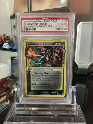 PSA 9 Gold Star Charizard Dragon Frontiers Shiny Black