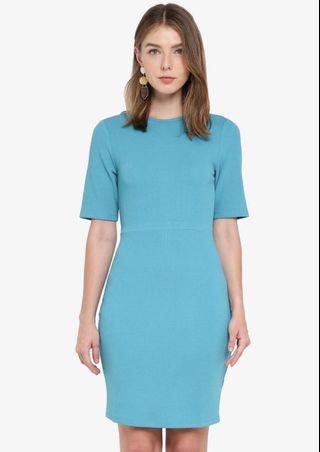 ZALORA light blue bodycon dress