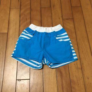 二手約6-7歲 小瑕 正韓女童鬆緊褲頭拼接短褲熱褲