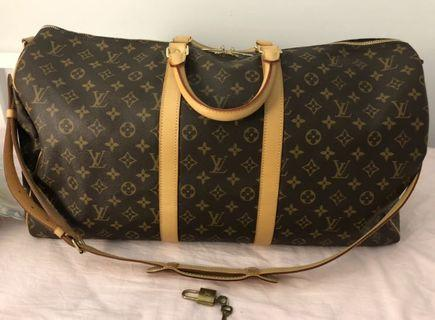 100% Authentic Louis Vuitton Keepall 55 Bandouliere