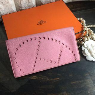 9新真品Hermès Evelyne 長夾(盒裝/紙袋)