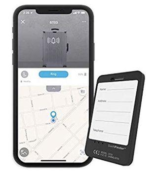 SwiftFinder Bluetooth Smart Luggage Tag/Tracker and Phone Finder with 5-Years Battery Life. Finder and Locator with Baggage-Arrival-Notification with Free App Support for iPhone, Android Phone