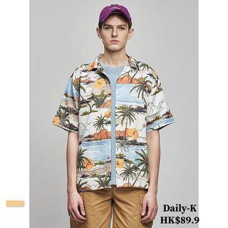 19年7月15  寬鬆款夏威夷風格短袖shirt 貨號:shirt190715 大減價  JJ