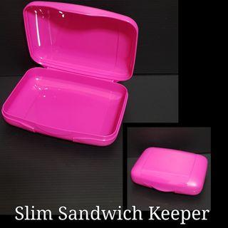 Tupperware Slim Sandwich Keeper (1) - Last pc 15.9cm(W) x 5.1cm(H)    Retail Price S$10.30