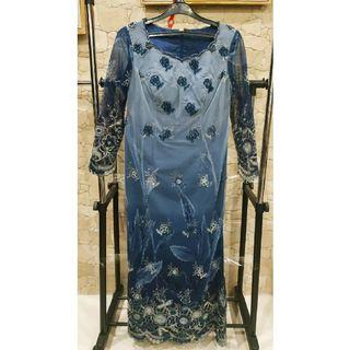 Long dress Pesta Brukat