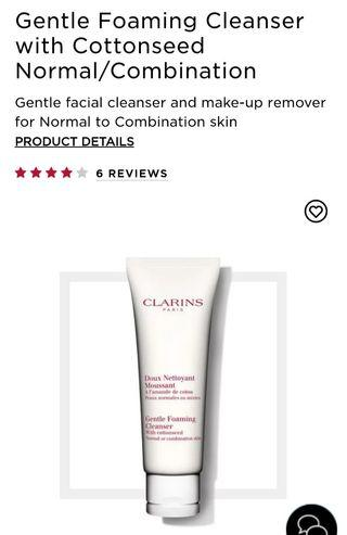 Clarins Gentle Foaming Cleanser (normal to combine skin) 30ml/50ml
