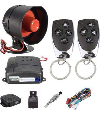 Car Alarm Vehicle Security System Keyless 2 Remote Control Siren Horn