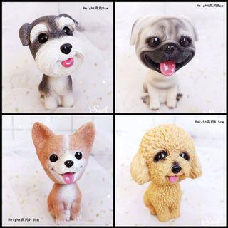 Wobble Head Cute Dogs Figurine