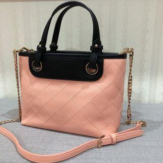 Charles and Keith Peach Color Bag