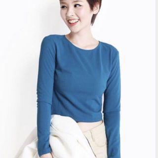 Aforarcade blue Long sleeve top