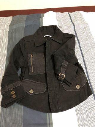 短版 騎士風七分袖外套