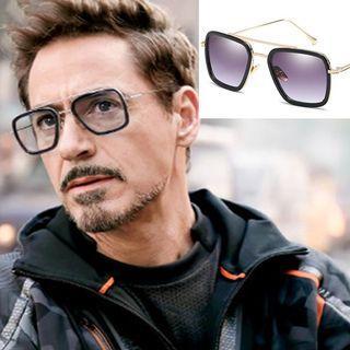 Tony Stark Sunglasses Iron Man Glasses Rectangle Vintage Superhero Sun1