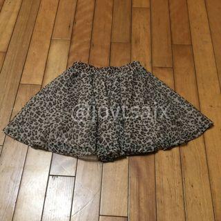 二手5T 約6-7歲 Old Navy 豹紋雪紡紗裙雙層紗裙