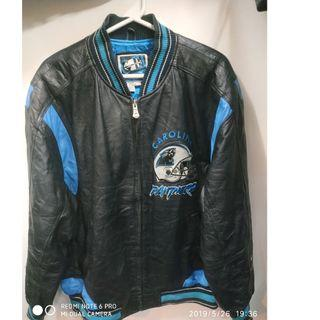 Carolina Panther Genuine Leather Bomber  Jacket