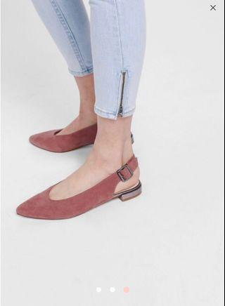 Love Bonito faustine pointed sling back flats
