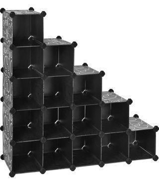 🚚 16-cube Storage Unit DIY Plastic Interlocking Organizer