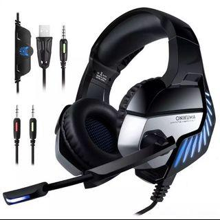 🚚 ONIKUMA K5 PRO wired Gaming headset with noise cancelling n mic