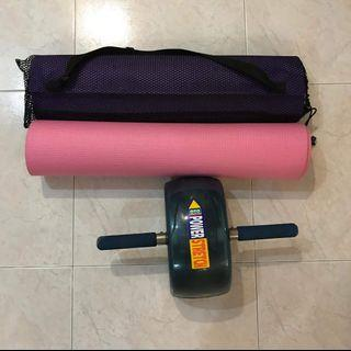 Yoga exercise Mat and abs roller
