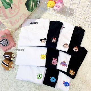 Ready Stock Tsum Tsum Embroidery Shirt
