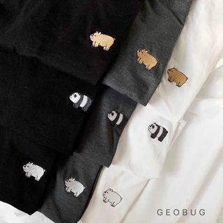 Ready Stock We Bare Bear Embroidery Shirt