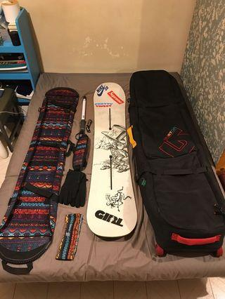 Burton Mr. Nice Guy Snowboard 152 Set
