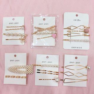 Korean pearl hair clip