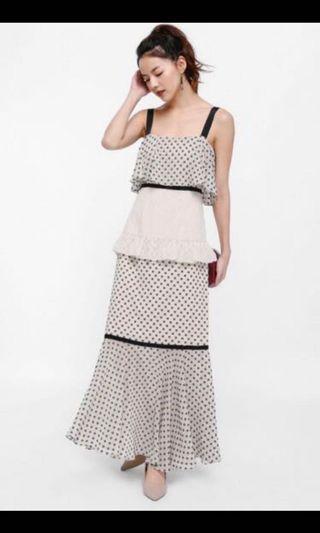LB BNWT M Aurora layered ruffle dress