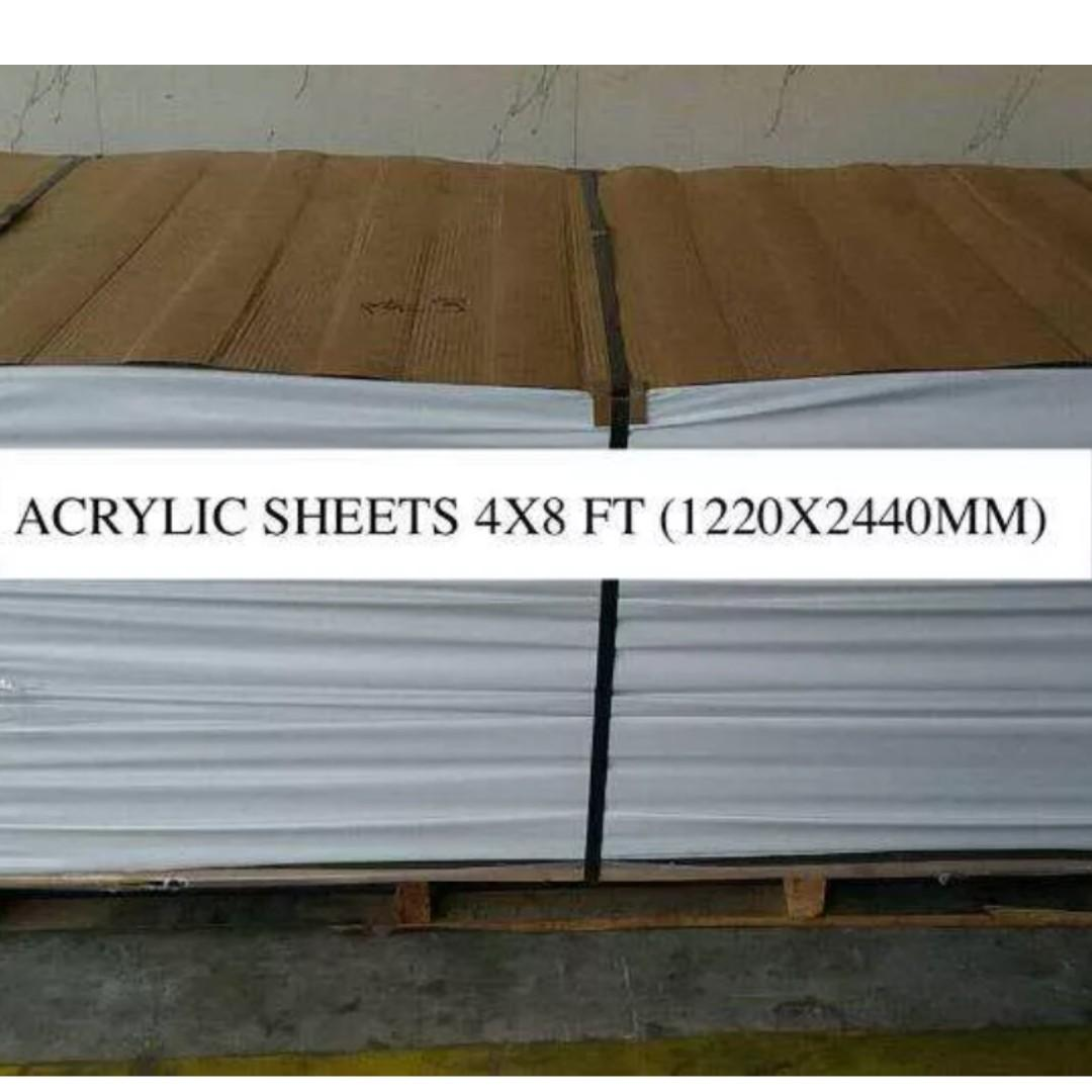 Acrylic Sheets Opaque White Black 3mm Signage on Carousell