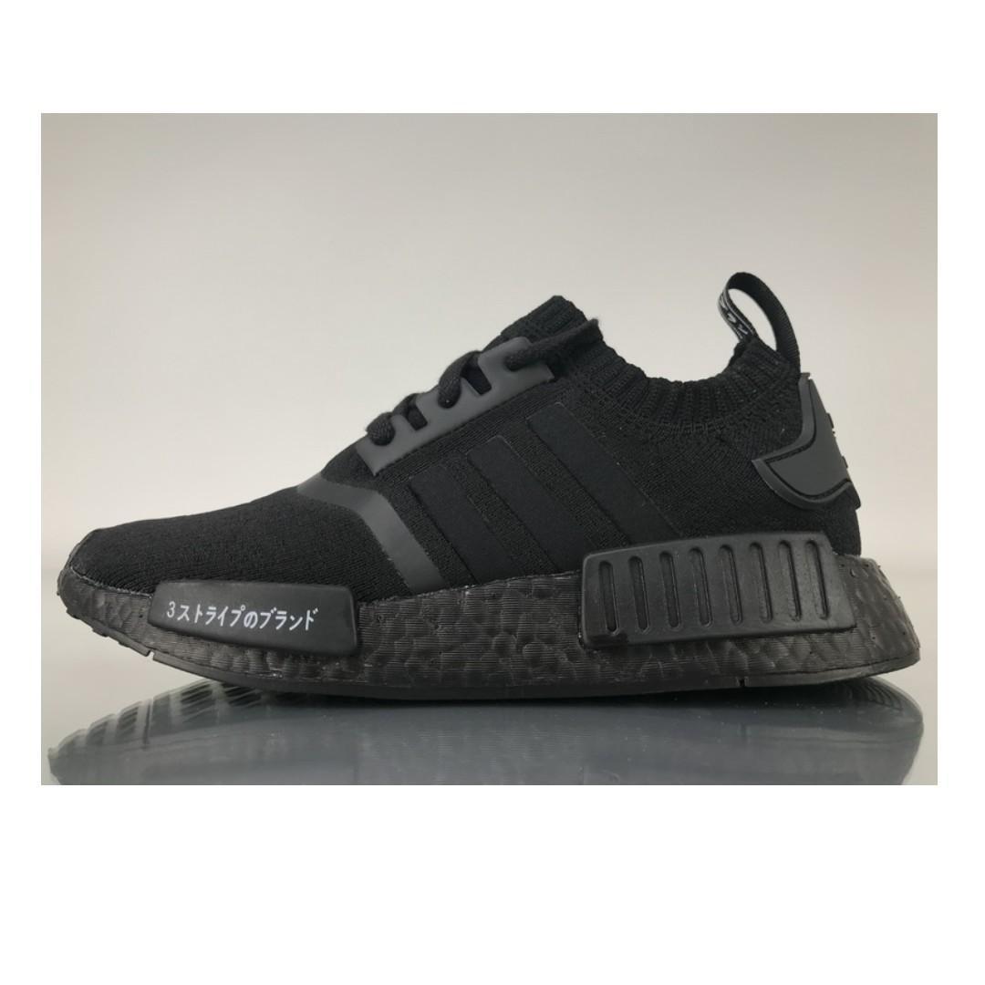 Adidas NMD R1 Triple Black Japan, Men's Fashion, Footwear